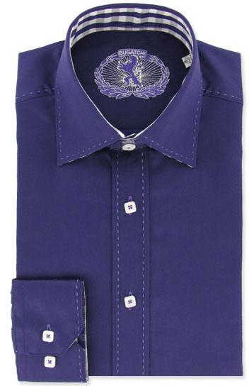 bugatchi uomo mens shirt plum