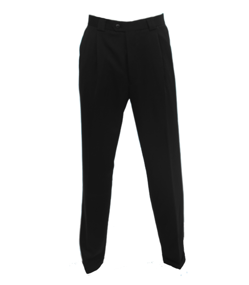 bugatchi black microfiber golf trousers