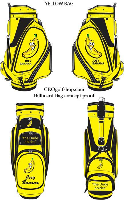 concept yellow golf bag