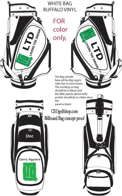concept custom golf bag