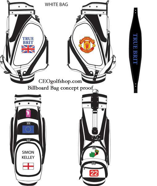 custom golf bag white