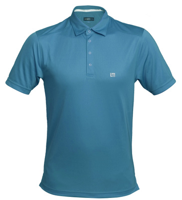 loudmouth golf Jewel shirt teal blue