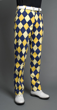 blue and gold pants