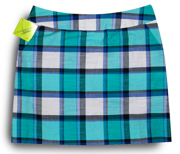 Bushwood blue plaid skort