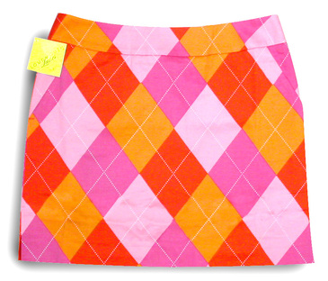 Raspberry Surebet skort by Loudmouth Golf